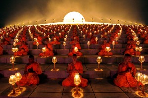buddhistmonkswith lanterns amazing!