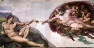creation god finger adam