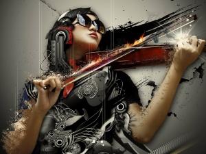 symphony woman violin