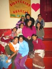 Con los niños de Munaychay