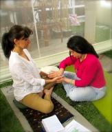Practicando el masaje paliativo